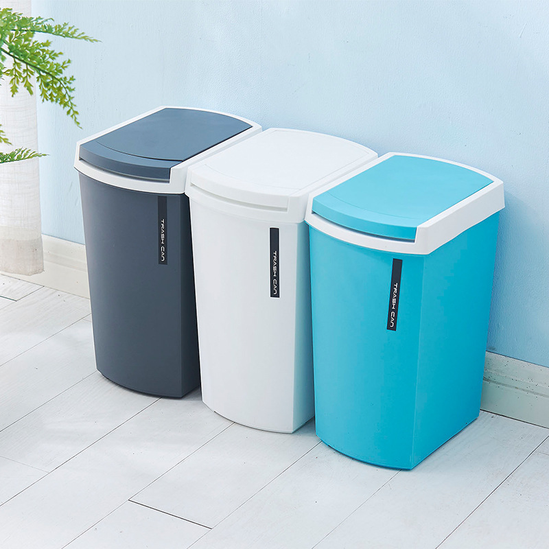 Household Plastic Trash Cans Living Room Kitchen Bathroom Trash Bin Simple Creative Waste Bins plastic