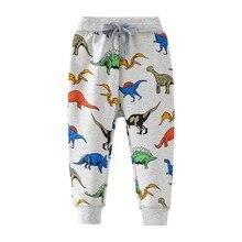 Cartoon Dinosaur Baby Boys Straight Pants for Spring Autumn Children Kids Full Length Sweaterpants Trousers
