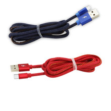 Cowboy Jacket USB Type C / Micro Data Cable Charging Data Cord for Samsung,Huawei,Xiaomi Type-C or Micro interface(China)
