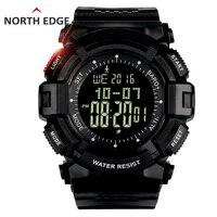 NORTHEDGE דיג חיצוני של גברים שעון דיגיטלי שעוני גברים שעות שעון מזג אוויר ברומטר מד גובה מדחום מד צעדים הלם