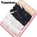 5 pçs/lote das Mulheres Calcinhas Cuecas Lingerie Sexy Cintura baixa Transparente Underwear Rendas Macio