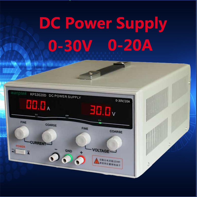 Laboratory scientific voltage regulators adjustable DC power supply 30V 20A Single phase high power switching power supply 0 30v 0 20a output brand new digital adjustable high power switching dc power supply variable 220v