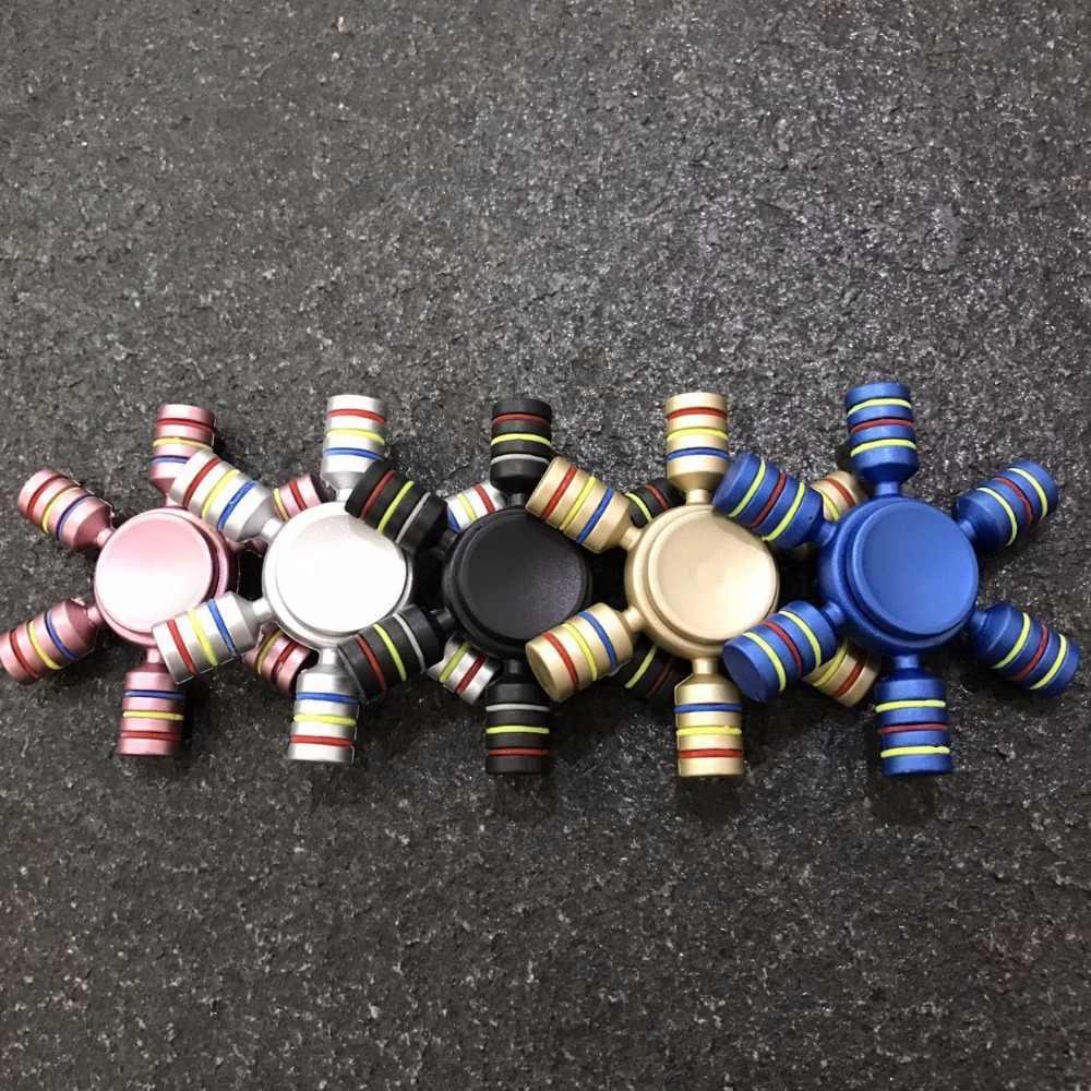 Фиджет-Спиннер Пластик шестиконечный Torqbar руль колесо обозрения палец фокус гироскопа игрушки для страдающих аутизмом СДВГ антистрессовый