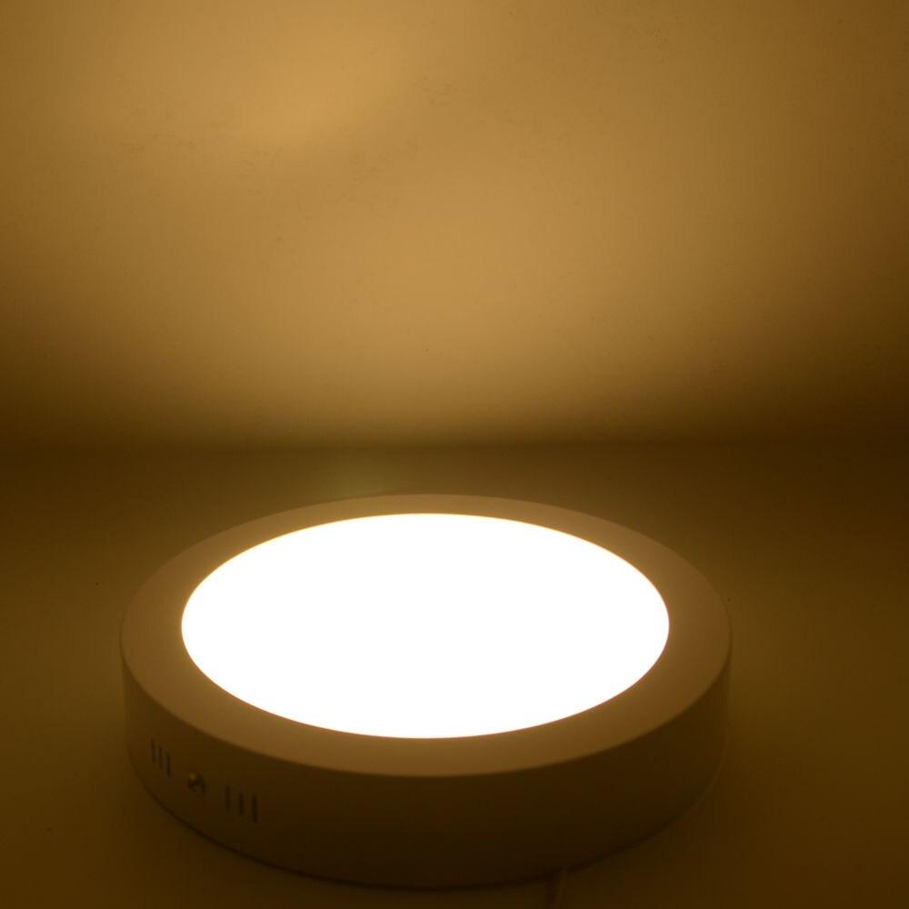 Non dimmable LED downlights Round Square 6W12W18W24W super bright ...