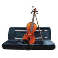 4/4 Acoustic Violin Fiddle Spruce Wood Front Board Flame Maple Backboard for Beginner Student Performer with Violin Case