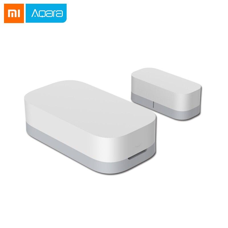 2018 Xiaomi Aqara Porta Janela Do Sensor De Zigbee Conexão Inteligente Mini Trabalho sensor de porta Sem Fio Com Android IOS App controle