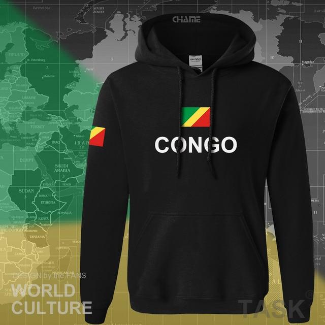 Congo Republic hoodie men sweatshirt sweat new hip hop streetwear tracksuit nation footballer sporting country COG Congolese