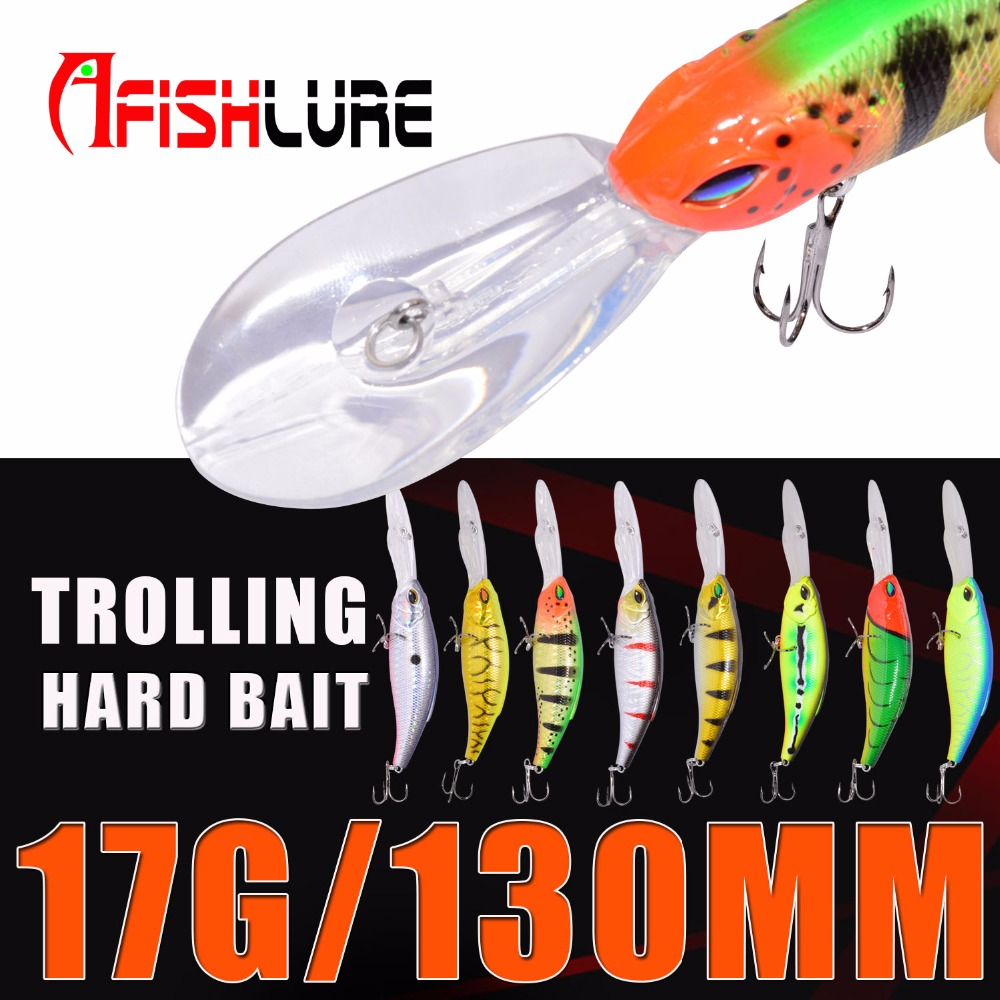 Fishing Bait 17g/130mm Big Tongue Fishing Lure Crankbait Bionic Minnow Lure Iscas Pesca Artificiais Fishing Tackle Afishlure fishing lure soft bait bugsy shad 2 8 swimbait iscas artificiais pesca 10pcs 7cm 2 5g silicone bait carp fishing tackles trout