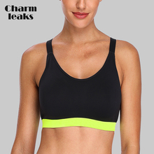 Charmleaks Women's Mid Impact Sports Bra Padded Support Yoga Bra Breathable Jogging Workout Racerback Sports Top space dyed racerback sporty bra
