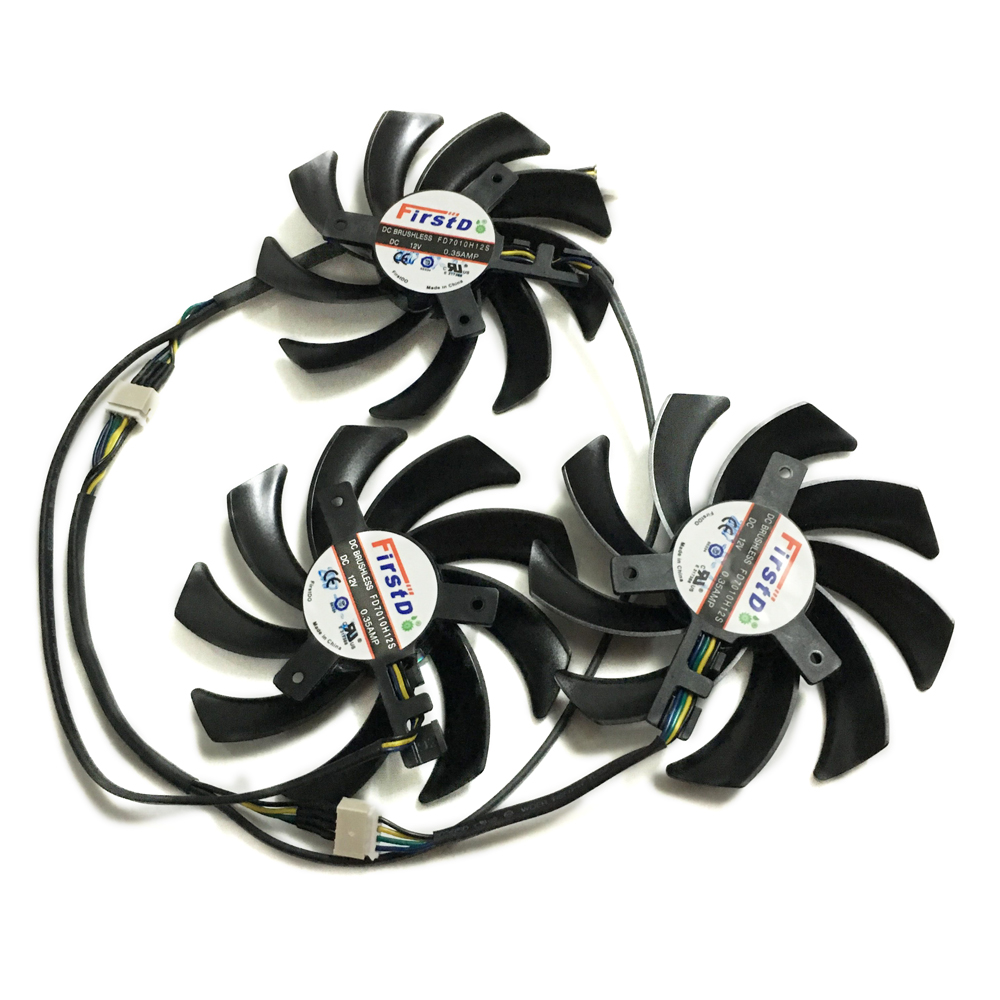 SAPPHIRE R9 290X/390/390X GPU VGA Cooler Fan for Sapphire R9-290X 4G R9 390 8G PRO R9 390X 8G D5 Tri-X Video card Replacement 2pcs lot everflow t129215su dc 12v 0 5a 5pin gpu vga cooler fan for r9 390 r9 390x graphics card