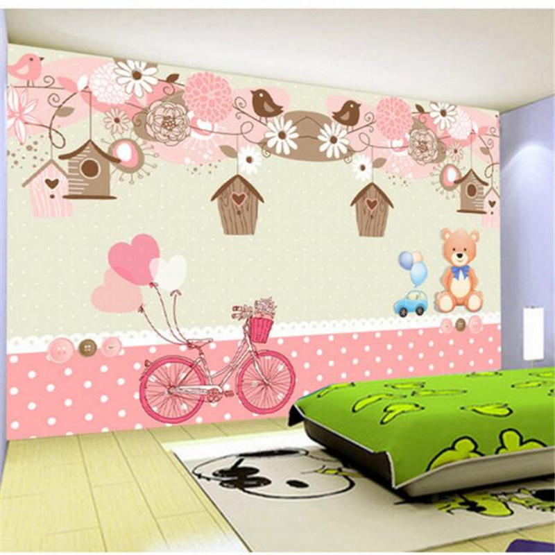 beibehang papel de parede 3d wallpaper Custom Sentimental Rainy Season Warmer Kids Room Decorative Background Wall