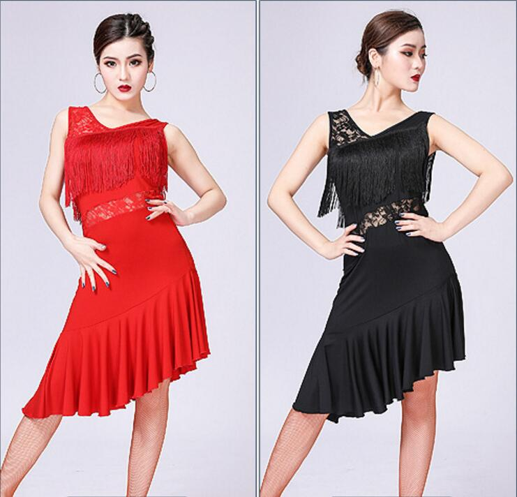 High Quality Latin Dance Dress Women/Girls/Lady New Sexy Fringe Salsa/Ballroom/Tango/Cha Cha/Samba/Latin Dresses For Dancing