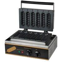 التجارية وجبة خفيفة المعدات الكهربائية الساخن هش آلة خمسة الشبكة ماكينة هوت دوغ سطح المكتب Maffei هوت دوج متموج آلة FY 117-في ماكينة المطبخ من الأجهزة المنزلية على