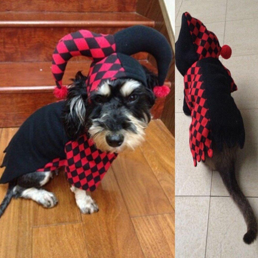 Dog Hooded Clown Halloween Costume  4
