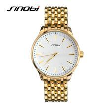 SINOBI Relojes Mujer Top Marca de Lujo Completo Reloj de Oro Mujeres Reloj de Cuarzo Reloj De Mesa de Metal