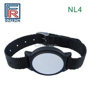 Image 2 - 1pcs 125khz RFID Adjustable Nylon wristband Bracelet watch strap card/tag with EM4100 Tk4100 for access control