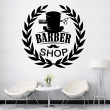 Colorful barber shop Home Decorations Pvc Decal For Kids Rooms Decoration Party Decor Wallpaper