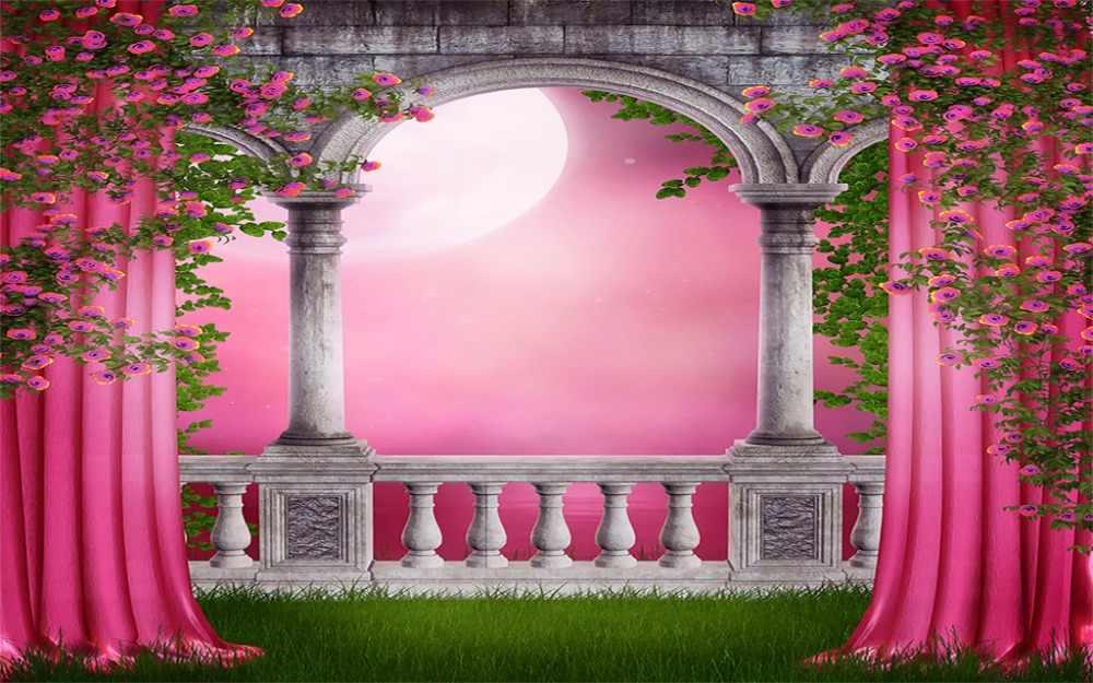 Розовый занавес 3D занавес печать Blockout полиэстер фото портьеры ткань для комнаты спальни окна акварельный Декор
