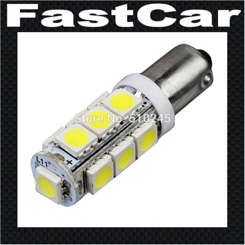 10x Car Auto LED BA9S 13SMD 5050 LED 6523 1895 H6W T4W 13 led smd 5050 Wedge LED Light Bulb Lamp White DC 12V free shipping 3156 12w 600lm osram 4 smd 7060 led white light car bulb dc 12v