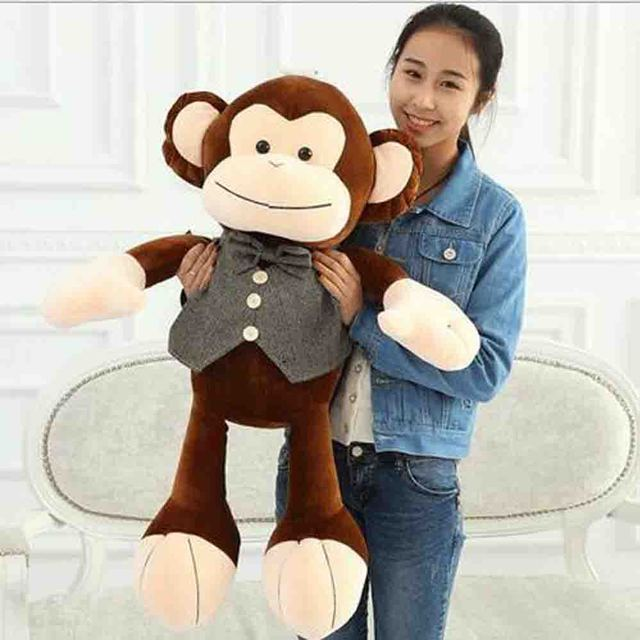 Large Size New Huge Big Monkey Stuffed Animal Plush Soft Toy Doll In