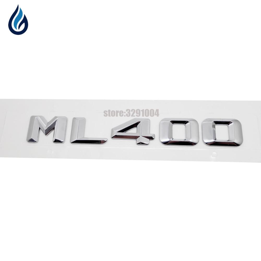 Trunk Rear Emblem Nameplate Badge Symbol Sign Chrome Letters ML 430 for Mercedes W163 W164 ML ML430