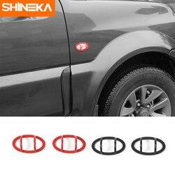 SHINEKA Metal Side Fender Turn Signal Light Cover Trim Anti-collision Lamp Guards Frame Car-Styling For Suzuki Jimny 2007+