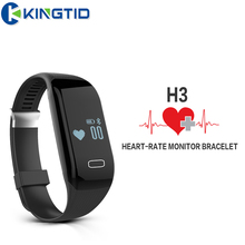 Горячая Смарт-Браслет H3 Браслет Монитор Сердечного ритма Bluetooth 4.0 Шагомер Спорт Фитнес-Трекер Smartband Для IOS Android