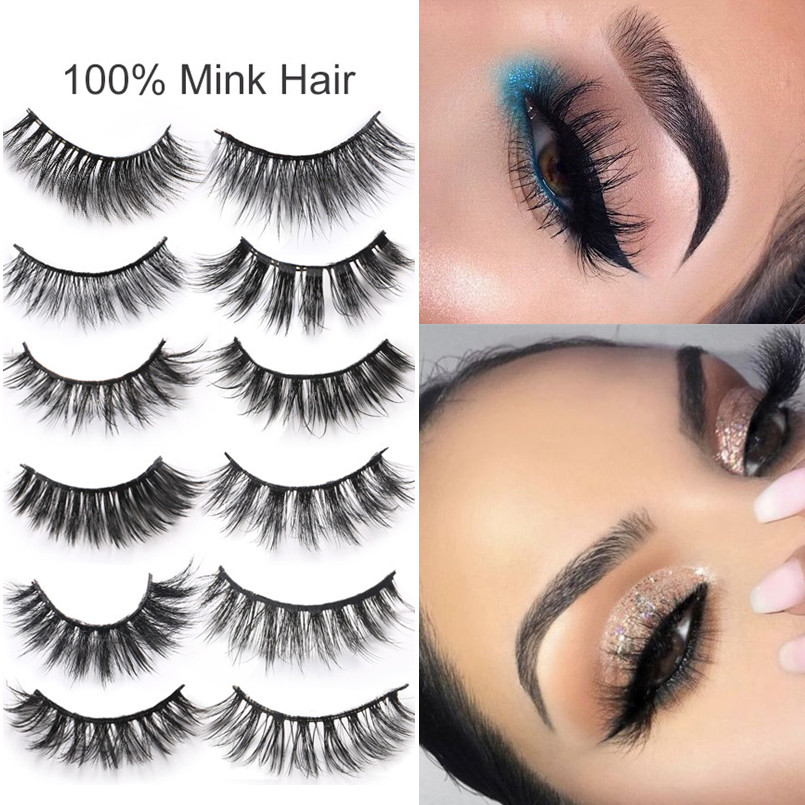 1805cf1845d 3D Mink Eyelashes Long Lasting Fake Mink Lashes Natural Dramatic Volume  Makeup Eyelashes