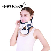 Button type height adjustable neck household fixed cervical spine surgery fixed support neck neck collar with high quality