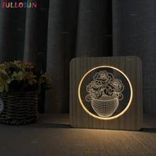 Creative Flower Vase Night Lamp Warm White Color Light Switch Button LED Acrylic Desk Night Light as Christmas Decor led night lamp decorate dream bluetooth voice speaker christmas ever fresh flower creative music box rechargable desk light gift