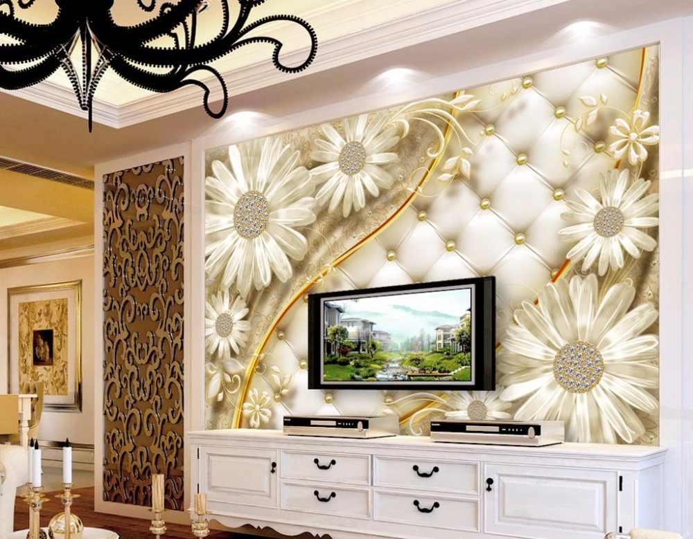 מותאם אישית קיר נייר קיר 3d פרחי טפטים לקירות בית טפט 3d עבור שינה