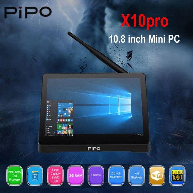 Pipo X10 мини-видеокамера-регистратор с креплением к ПК widws 10 мини-ПК Intel Z8350 4 ядра 2 ГБ 32 ГБ 10,8 дюймовый планшет ips ПК 1000 Мбит/с BT4.0 смарт-медиа-плеер