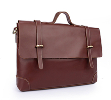 genuine cowhide leather briefcases dress High-capacity man's business shoulder messager hand computer packages laptop tote bags