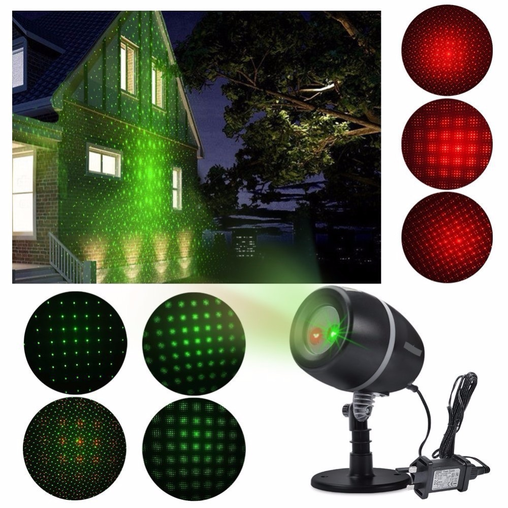 Outdoor Waterproof Red Green Blue Christmas Garden Laser Lights Projector for New Year Holiday Party Wedding Home Decorations yeduo woman sexy apron new year christmas decorations