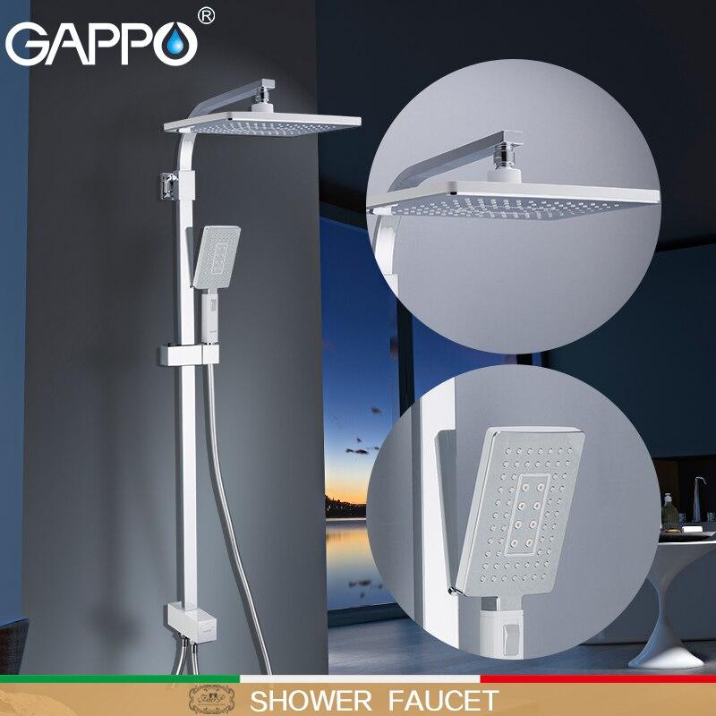 GAPPO Shower Faucet shower heads waterfall massage shower torneira do anheiro wall mounted shower sets rainfall