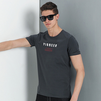 Pioneer Camp New arrival T shirt men brand clothing fashion letter T-shirt male quality cotton casual stretch Tshirt ADT702142 1