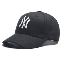 Moda Unisex adultos Casual Gorras sombrero bordado carta NY gorra de béisbol  deporte Snapback Cap negro b2d5cc93785