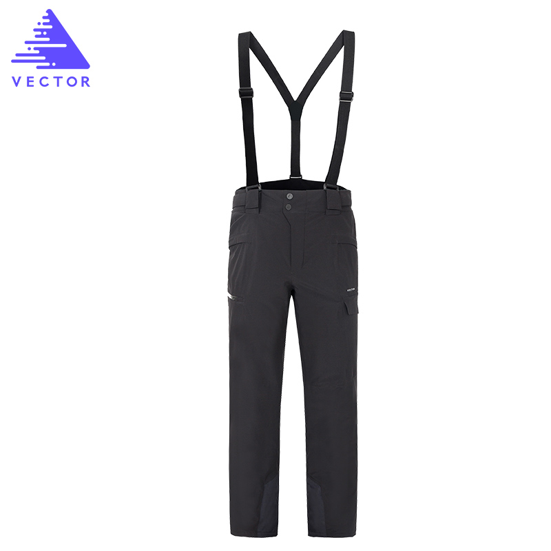 VECTOR Professional Winter Ski Pants Men Women Warm Waterproof Snow Skiing Snowboard Pants Outdoor Trousers Brand