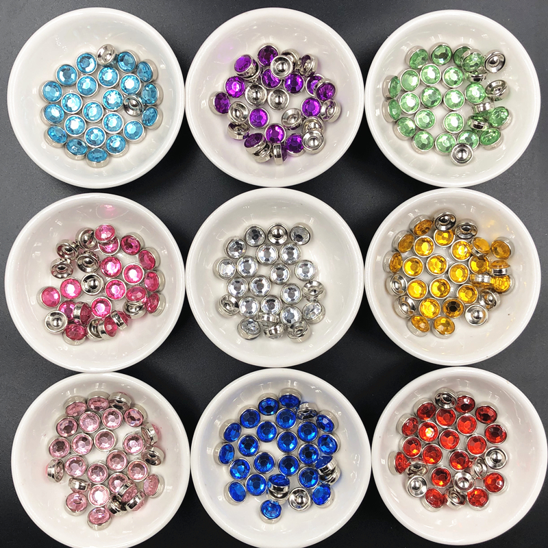 Marquise 50pcs/lot  10mm Round Silver Base Rhinestones Beads Sew-On or Stick paste Arts Crafts & Sewing plastic material