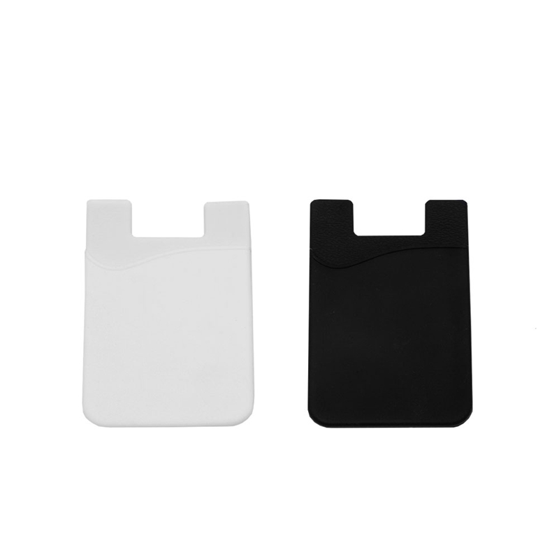1Pc Silicone Credit Card/ID Wallet Sleeve Adhesive Phones Holder Universal phones