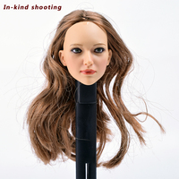 KUMIK 16 22A 1/6 Scale Accessories Female Headplay Carving Girl Head Sculpt Fit 12 Inch Doll Hot Toys Phicen Action Figure