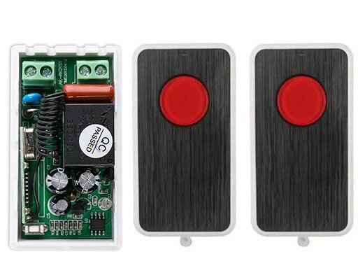 NUEVA AC220V 1CH RF Sistema de Interruptor de Control Remoto Transmisor 2X teles