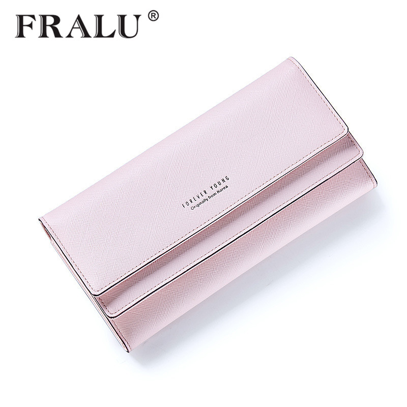 FRALU 2017 Women Wallet Multifunctional Lady Cross Pattern Purse Long Style Closure Huge Capacity Fashion Handbag Money Bag More new arrival button wallet lady multifunctional purse long style zipper hasp oil wax cowhide closure huge capacity fashion han