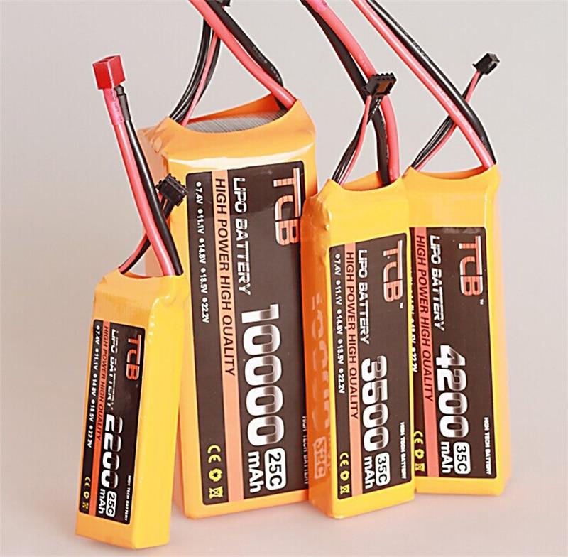 TCB RC LiPo Batteria 3 s 11.1 v 2200 mah 2600 mah 3500 mah 4200 mah 5200 mah 10000 mah 25C 35C per RC airplane RC auto RC barca 3 s Batteria
