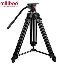Miliboo MTT601A Professionnel Portable En Aluminium Caméra Caméscope Trépied pour Vidéo/Appareil Photo REFLEX NUMÉRIQUE Stand, avec Hydraulique Tête Balle