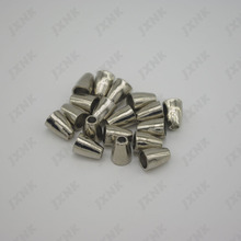 20pcs/Lot 8mm Hollow Conical Stopper Without Lid Cord Ends Lock Plated Toggle Clip for Paracord Bracelet silver nickel coloer