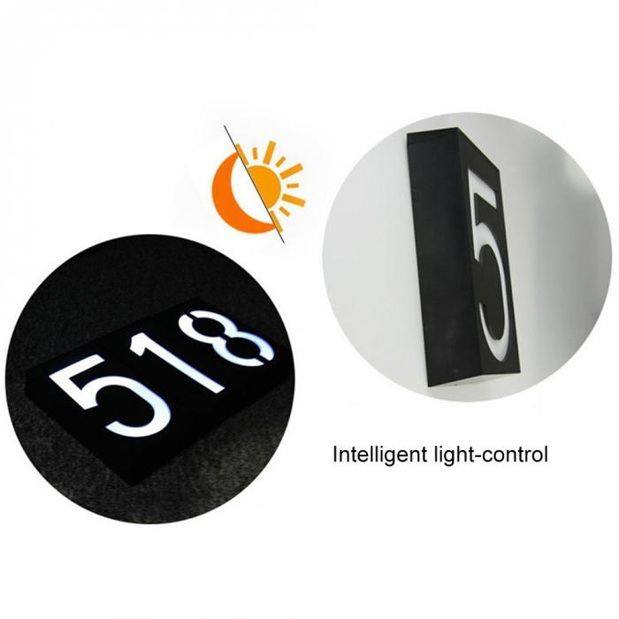 Energia solar 6 led sinal de luz