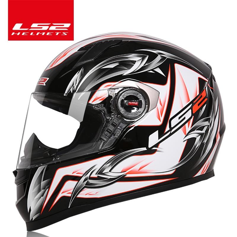 D'origine LS2 FF358 plein visage moto rcycle casque ls2 moto cross racing homme femme casco moto casque LS2 ECE approuvé pas de pompe - 5
