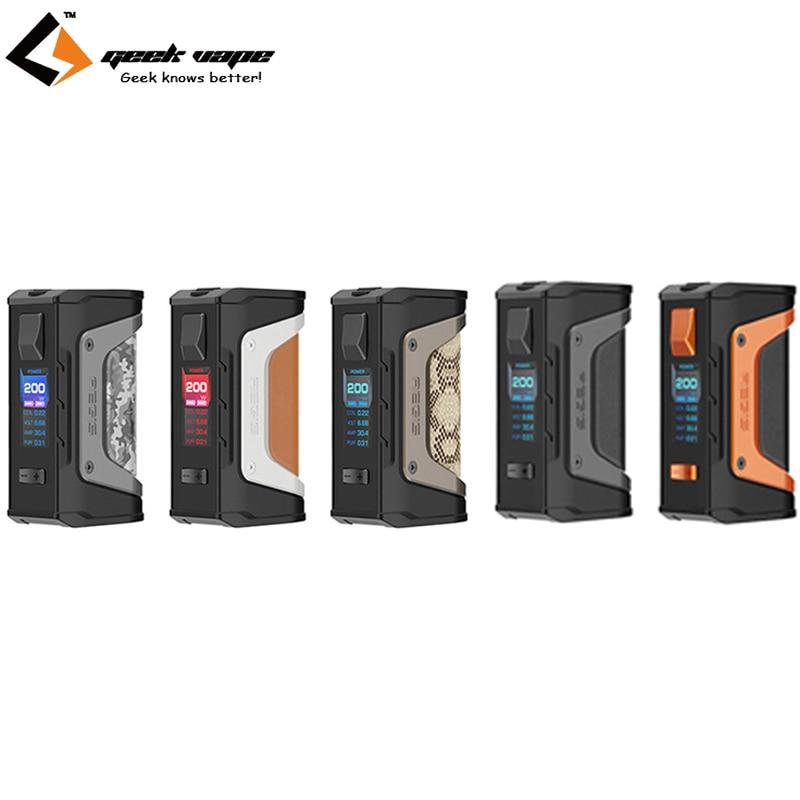 Original GeekVape Aegis mod aegis Legend 200W TC Box MOD Powered by Dual 18650 batteries e