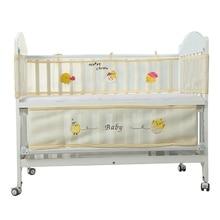 2019 Hot Sale Baby Bed Bumper Protector Infant Room Decor Toddler Bed Bedding Newborn Crib Bumper Cot Cartoon Baby Bedding Set